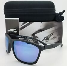 NEW Arnette Sunglasses Hand Up AN4249 01/22 Matte Black Polarized Blue Mirror 63