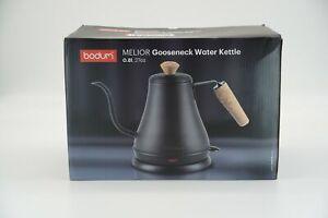 Bodum Melior Gooseneck Water Kettle .8 Liter 27 Ounce Black Electric Kettle FAST