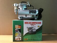 Mini Air Compressor AS18 For Airbrushes painting Inflation Tattoo Piston Type