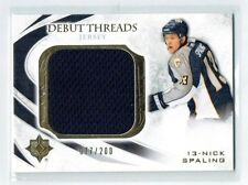 10-11 UD Ultimate Debut Threads  Nick Spaling  /200  Jersey  Rookie