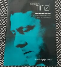 Gerald Finzi Earth and Air and Rain ten songs for baritone & piano sheet music