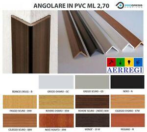 Paraspigolo pvc Angolare Profilo in plastica finitura legno bianco 25 mm mt 2,70