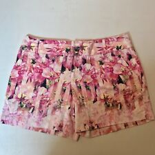 INC International Concepts Pink Floral Casual Shorts Size 6