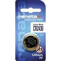 100 Piles  RENATA CR2430 3V  au lithium en blister de 1 pile
