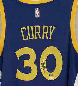 Stephen Curry Signed Warriors Nike Autograph NBA Auto Swingman Jersey JSA USASM