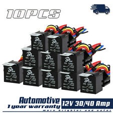 10PCS 12v 5PIN 30/40Amp Relay Harness SPDT Auto Relay Wire Socket