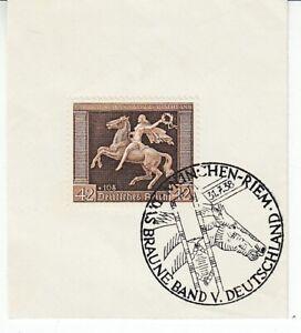Deutsches Reich   671  Braunes Band  Pferderennen  Sonderstempel