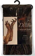 Smiffys Femme Gants en Dentelle Noir avec toiles D'araignée 22549