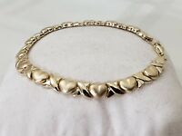 10k Yellow Gold Hugs And Kisses XO Style Bracelet 7 inches Long 4 Grams