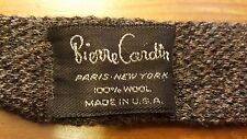 "Vintage, Pierre Cardin, Gray, Wool, Skinny, Sock-bottom, Neck Tie (55.5"")"