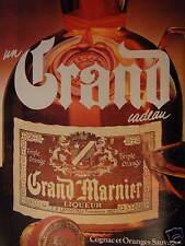 PUBLICITÉ 1981 GRAND MARNIER LIQUEUR TRIPLE ORANGE - ADVERTISING