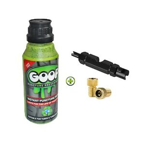 Goop Puncture Sealant 250ml With Adapter and Core Removal Tool For Presta Valve