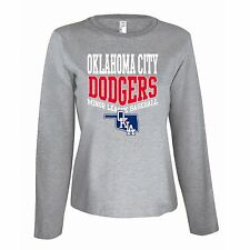 Official MiLB Oklahoma City Dodgers Women's Long Sleeve Shirt - Gray Small