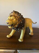 "Large AAA Lion Hard Rubber PVC Animal Figure 16"""