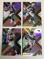 2017 Donruss Elite (4) Card Lot Patriots Brady Gronkowski Edelman Cooks