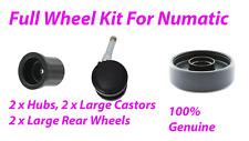 Numatic HVR240 NRV240 Full Wheel Kit 2 rear wheels, 2 front castors, 2 Wheel Hub
