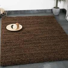 Hochflor Shaggy Teppich Modern Wohnzimmer Teppich Unifarbe Braun - TOP PREIS!