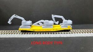 (3) Excavator Lot 1:160 N Scale resin ready for paint and Weathering