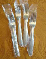 """4 Oneida 7-1/4"""" Salad Forks Peninsula / Castle / Jordan / Laura Stainless NEW"""