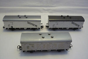 Roco - Gauge H0 - IN Set - 3 Freight Car/Wagon - Look at the Photo - (4.EI-56)