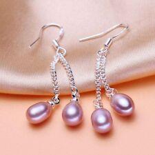 Gift Drop Wedding Cultured Stud Lady New Pearl Earrings Freshwater Dangle