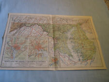 ANTIQUE MARYLAND, DELAWARE, & DISTRICT OF COLUMBIA MAP National Geographic 1925