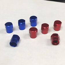 Valve stems caps Red & Blue set of 8 pc