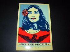 "SHEPARD FAIREY Obey Giant Sticker 5.5"" WE THE PEOPLE DIGNITY from poster print"