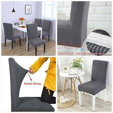 LUOLLOVE Chair Covers,Stretch Removable Washable Chair Covers for Dining Chairs,