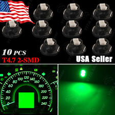 10 x Brightest Green T5 /T4.7 Neo Wedge 12mm 12V 2 SMD LED Light Bulbs Dashboard