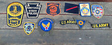Lot of 11 Mixed Obsolete Police, Military, Scout and Special Op Patches
