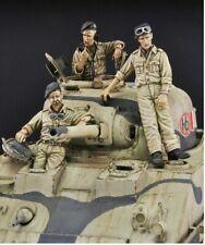 1:35 British Tank Crew WW2, Resin Model Kit, 3 Figures ( No Tank)