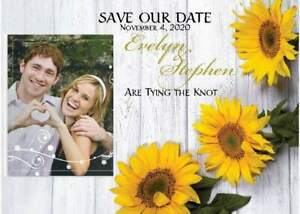 Gold Sunflower Save the Date