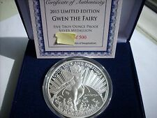 5 OZ SILVER COIN PROOF TOM GRINDBERG *GWEN THE FAIRY* MARVEL AND DC ARTIST