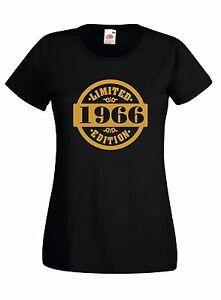 T-shirt J849 Limited Edition 1966 Idea Regalo Compleanno Maglia Donna 50 anni