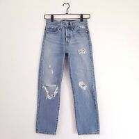Levi's Women's Size 24 Authentically Yours Wedgie Straight Jeans High Rise Waist