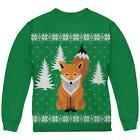 Big Fox Ugly Christmas Sweater Green Youth Sweatshirt