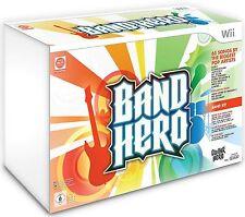 NEW Nintendo Wii BAND HERO Super Bundle Kit Game set wireless guitar drums mic