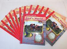 God's World K 12 Science Textbooks & 1 Teacher's Edition A Beka Book 3rd Edition