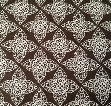 Impressions Lace Ty Pennington BTY TY004 Espresso / White on Dark Brown Floral