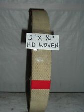 """WOVEN BRAKE LINING 2"""" WIDE X 1/4"""" THICK ~ SOLD BY THE FOOT- $24.99 PER FOOT"""