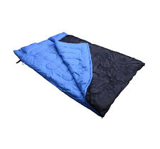 """2 Person Large Sleeping Bag Double 23F/-5℃ Camping Hiking 86""""x60"""" W/ 2 Pillows"""