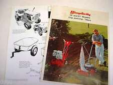 Simplicity Mower and Tiller related Related Brochures