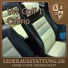 LEDERAUSSTATTUNG DE VW Golf 1 Cabrio Sitzbezüge,Schonbezüge, Ledersitzbezüge NEU