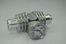 Super Cooler Temperature Gauge Silver Anodized YFZ450 TRX450 Banshee Raptor
