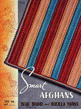 Bear Brand #99 c.1937 - Colorful Vintage Afghans Patterns to make in Crochet