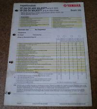 Inspektionsblatt Yamaha YP 250 DX ABS Majesty Typ SG022 / SG021 Baujahr 1999