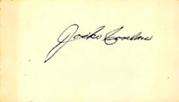 Jocko Conlan Autographed / Signed 3x5 Card Hall of Fame Umpire