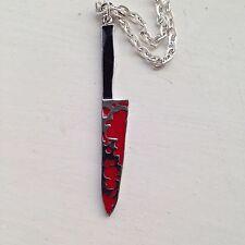 Bloody Knife Necklace Sweeney Todd Horror Halloween