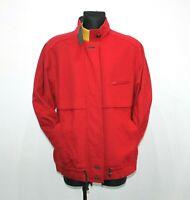 STEINBOCK AUSTRIAN Trachten Tyrol Loden Red Wool Zip Jacket Coat Women Size L XL